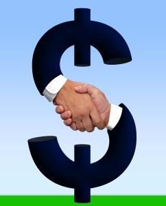 bigstockphoto_Handshake_with_Money_Sign_820521